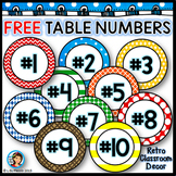 Table numbers {Retro}