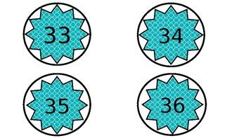Table numbers/ hook numbers