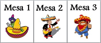 Spanish 1 Classroom Management: Classroom Table Numbers in Spanish
