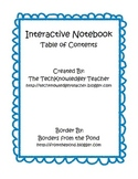 Table of Contents, INB