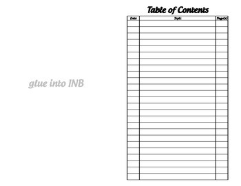 Table of Contents - Interac... by Math by Tori | Teachers ...