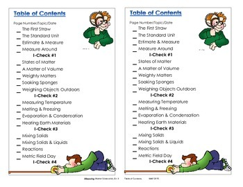 Table of Contents - Measuring Matter, 3rd. Ed.