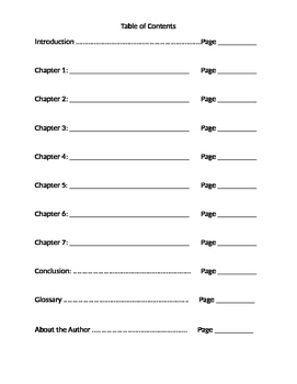 Table of Contents Organizer