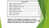 Table of Contents Question Review