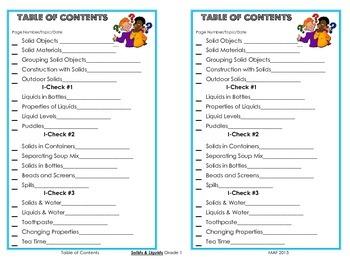 Table of Contents - Solids & Liquids, 3rd. Ed.