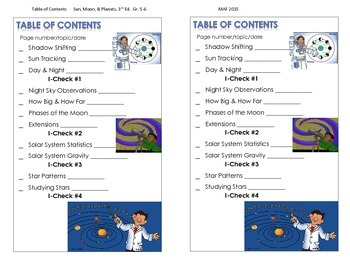Table of Contents - Sun, Moon, & Planets, 3rd. Ed.