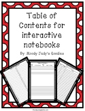 Table of Contents for Interactive Notebooks