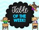 Table of the Week Place mats