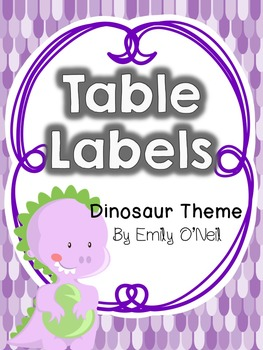 Table or Group Labels (Dinosaur Theme)