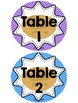 Table or Group Labels (Owl Theme)