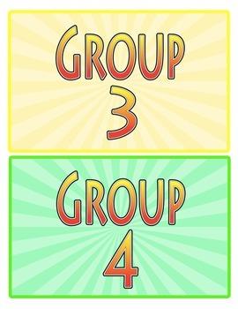 Table or Group Numbers Superhero