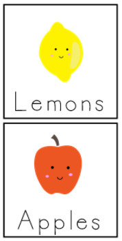 Table or Subject Groups- Fruit
