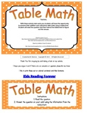 Table/Chart Math
