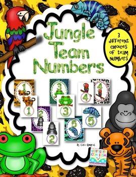 Table/Team Numbers - Jungle/Rainforest Themed {FREEBIE}