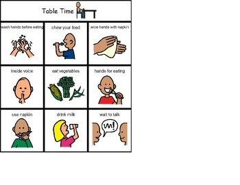 TableTime Bingo (Boardmaker PDF)