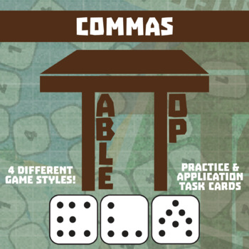 TableTop ELA -- Commas -- Game-Based Group Practice