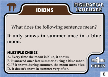 TableTop ELA -- Intro to Figurative Language -- Game-Based Group Practice