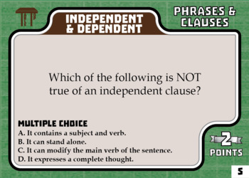 TableTop ELA -- Phrases & Clauses -- Game-Based Group Practice