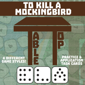 TableTop ELA -- To Kill a Mockingbird -- Game-Based Literature Activity