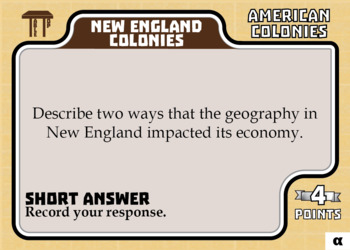 TableTop History -- American Colonies -- Game-Based Group Practice