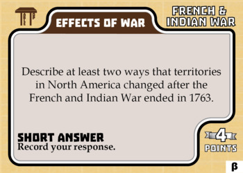 TableTop History -- French & Indian War -- Game-Based Group Practice