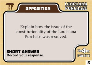 TableTop History -- Louisiana Purchase -- Game-Based Group Practice