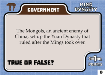 TableTop History -- Ming Dynasty -- Game-Based Small Group Practice