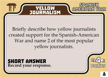 TableTop History -- Spanish American War -- Game-Based Group Practice