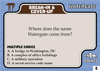 TableTop History -- Watergate -- Game-Based Group Practice