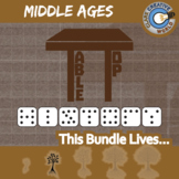 TableTop -- MIDDLE AGES WORLD HISTORY CURRICULUM BUNDLE -- 3+ Games