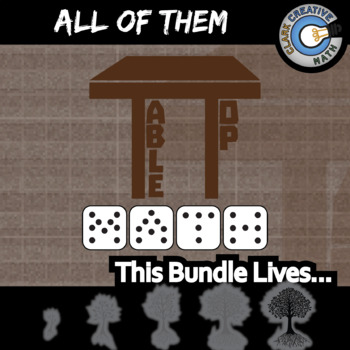 TableTop Math -- ALL OF THEM -- Grades (5-12) -- Game-Based Group Practice