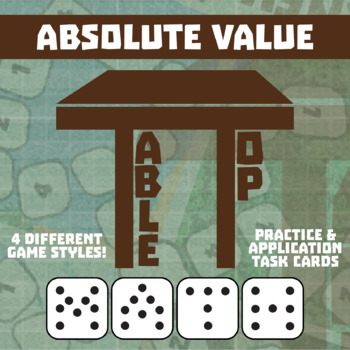 TableTop Math -- Absolute Value -- Game-Based Small Group Practice