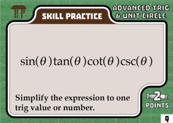 TableTop Math -- Advanced Trigonometry & Unit Circle -- Game-Based Practice