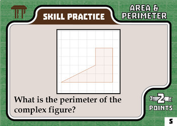 TableTop Math -- Area & Perimeter -- Game-Based Small Group Practice