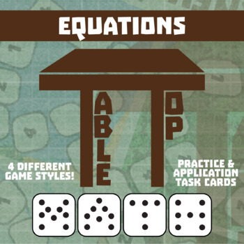 TableTop Math -- Equations -- Game-Based Small Group Practice