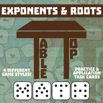 TableTop Math -- Exponents & Roots -- Game-Based Small Group Practice