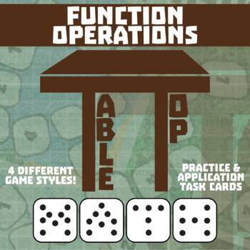 TableTop Math -- Function Operations -- Game-Based Small Group Practice