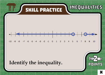 TableTop Math -- Inequalities -- Game-Based Small Group Practice