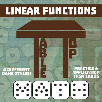 TableTop Math -- Linear Functions -- Game-Based Small Group Practice