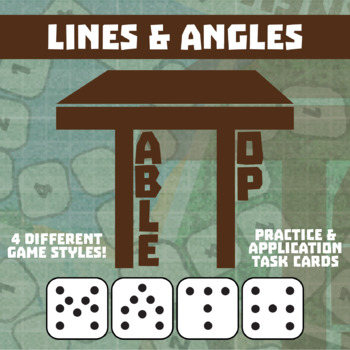 TableTop Math -- Lines & Angles -- Game-Based Small Group Practice