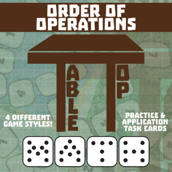 TableTop Math -- Order of Operations -- Game-Based Small Group Practice