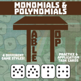 TableTop Math -- Monomials & Polynomials -- Game-Based Small Group Practice