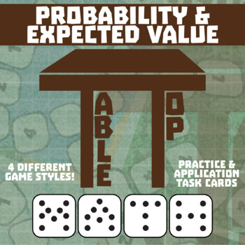 TableTop Math -- Probability & Expected Value -- Game-Based Small Group Practice
