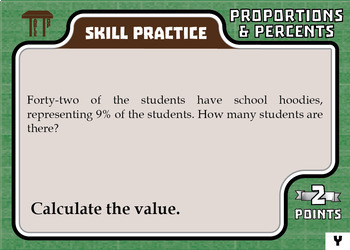 TableTop Math -- Proportions & Percents -- Game-Based Small Group Practice