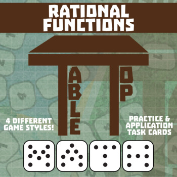 TableTop Math -- Rational Expressions & Equations -- Game-