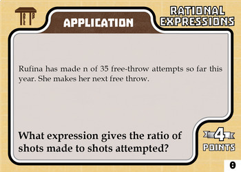 TableTop Math -- Rational Functions -- Game-Based Group Practice