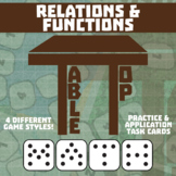 TableTop Math -- Relations & Functions -- Game-Based Small Group Practice