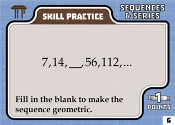 TableTop Math -- Sequences & Series -- Game-Based Small Group Practice
