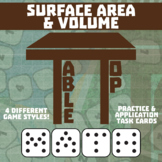 TableTop Math -- Surface Area & Volume -- Game-Based Small Group Practice