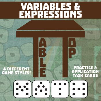 TableTop Math -- Variables & Expressions -- Game-Based Small Group Practice